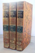 MEMOIRES DE LUDLOW 3 vol / RELIURE 1/2 CUIR 1827 /REVOLUTION D'ANGLETERRE GUIZOT