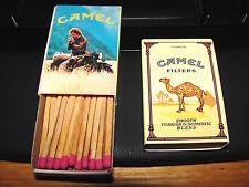 CAMEL FILTERS BOX WOOD STICK MATCHES 1 POCKET BOX 1982 RARE