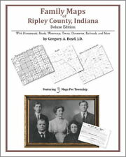 Family Maps Ripley County Indiana Genealogy IN Plat