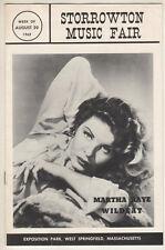 "Martha Raye Playbill 1962 ""Wildcat"" Summer Stock Storrowton Music Fair"