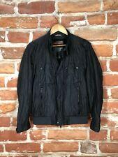 $1600 PRADA IT 48 US 38 S/XS Nylon Leather Trim Motorcycle Biker Racer Jacket
