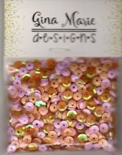 Gina Marie designs Sequin mix - Georgia Peach - Pink, clear peac & Peach mixture