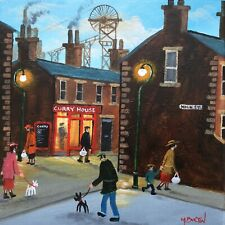 MAL.BURTON ORIGINAL OIL PAINTING. THE CHINKY NORTHERN ART DIRECT FROM ARTIST NEW
