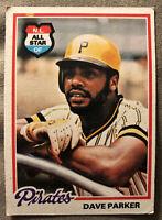1978 Topps Dave Parker All Star Baseball Card #560 Pirates HOF Low-Grade