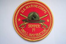 Us-Marine-Corps Patch semper Fi Drill instructor ca 10 cm