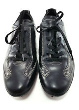 TOD'S Black Leather Lace-up Sneakers, Women's Shoes Size US 7 / EU 37