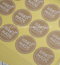 White 'Hand Made ' 'Especially for you' Stickers Kraft Label Sticker 180PCS New