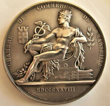 FRANCE-1912- SEATED MERCURY-LARGE SPECTACULAR SILVER MEDAL- RARE