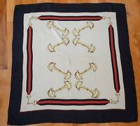 Vintage Gucci Silk Scarf Horse Bit Equestrian