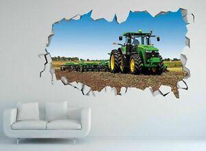 John Deere Tractor Construction Custom Wall Decals 3D Wall Stickers Art R01