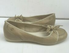Ladies 7 Shoes 40 Summer Leather Flat Slip Timberland Ballet Lace Cream US 9 Low