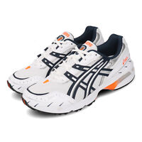 Asics Gel-1090 White Navy Orange Mens Womens Retro Running Shoes 1021A275-100