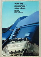 BMW K SERIES MOTORCYCLES Sales Brochure 1984  #311200320