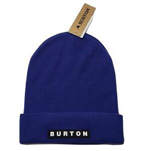 Burton All 80 Beanie Hat Royal Blue Knit Classic Fit Lightweight