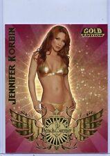 2007 BENCHWARMER GOLD JENNIFER KORBIN JUMBO BOX TOPPER CARD 4 OF 6
