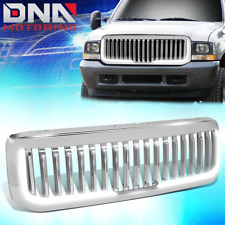 FOR 1999-2004 FORD SUPER DUTY FENCE STYLE FRONT BUMPER GRILLE W/ LED TUBE BAR