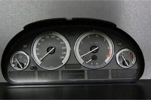 BMW E39 Design 2 glow gauge plasma dials tachoscheibe glow shift indicators MPH