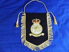 ROYAL AIR FORCE POLICE ( RAFP ) GOLD & SILVER BULLION WIRE EMROIDERED PENNANT