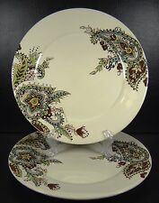 Tabletops Gallery Angela Set Of 2 Dinner Plates Paisley Chip Lot # 2