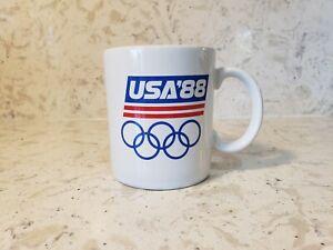 Vintage 1988 Olympics 12 Oz PAPEL mug made in USA