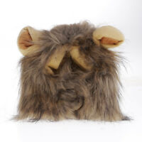 Fancy Pets Dog Hat Costume Lion Mane Wig For Cat Halloween Dress Up With Ears