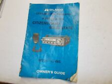 Midland 13-895 CB Radio SSB Owners Guide With Wiring Diagram