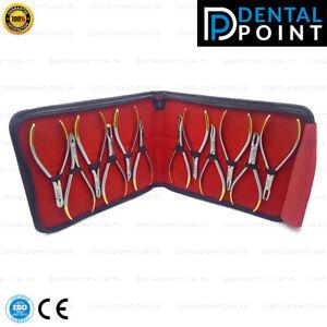 Orthodontics Pliers Kit set of 12 Pcs Wire Bending Ligating Cutter Dentistry