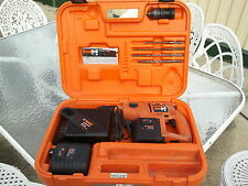 RAMSET DYNADRILL CORDLESS DRILL HAMMER DRILL WITH 2 BATTERIES & CHARGER & CASE