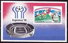 KOREA Pn. 1977 MNH** SC#1657 s/s, Argentina '78, World Soccer Championship.  Imp