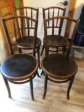 BENTWOOD Set 4 ANTIQUE Cafe, Parlor, Dining Chairs By FISCHEL CZECHOSLAVAK