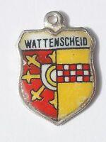 WATTENSCHEID    vintage Silver Shield Enamel Travel Charm