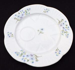 "Vntg SHELLEY Bone China England Dainty BLUE ROCK Pattern #13591 8""d Snack Plate"