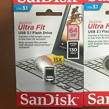 SanDisk 64GB Ultra Fit USB 3.0 Memory Stick Flash Backup Pen Drive Speed 130MB/s