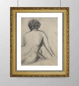 SIMONE BLANC-DEROCQUE (1903-2000) SUPERBE NU FEMININ VERS 1930 (12)