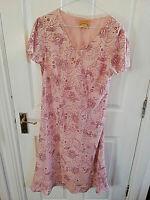 LAURA BELMONT WOMENS PINK FLORAL SHORT SLEEVE DRESS SIZE 10 CHIFFON MAXI LONG