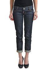 "Dsquared2 ""Pat Jean"" Dark Wash Women's Cropped Jeans US 4 IT 40"
