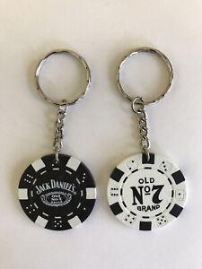 Jack Daniels Poker Chip Key Ring