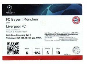 Orig.Ticket  Champions League 2018/19  BAYERN MÜNCHEN - FC LIVERPOOL  1/8 FINAL