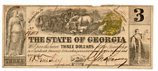 1864 BANK OF THE STATE OF GEORGIA MILLEDGEVILLE $3 NICE!