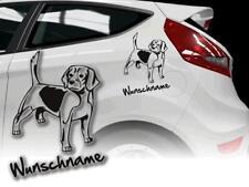 Auto Aufkleber Hundeaufkleber Beagle