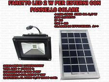 FARETTO 2W 4 LED PER ESTERNO IP65 CON PANNELLO SOLARE 5V SENSORE CREPUSCOLARE