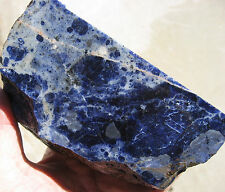 rle  BLUE SODALITE ROUGH, NAMIBIA, BEAUTIFUL COLOR! 2.94LBS.