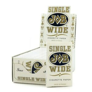 """24 x JOB Cigarette Rolling Papers """"Single Wide"""" - Free Same Day Express Shipping"""