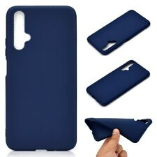 Huawei nova 5T Handyhülle Case Bumper Matt Schutzhülle Slim Silikon Cover Blau