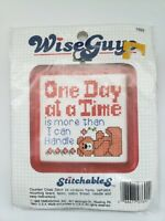 ©1988  Stitchables Wiseguys Counted Cross Stitch Kit 7692 ONE DAY AT A TIME...