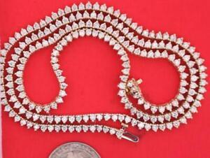 24 Inch 219 Diamonds 11.8 Carats Vs2-si1 Diamonds Men's Tennis Necklace 10k Gold