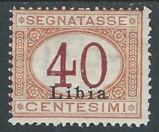 1915 LIBIA SEGNATASSE 40 CENT MH * - I45-8