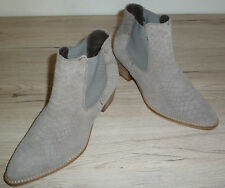 NEU !! Invito !!  Damen Stiefelette Gr. 39 UK 6 // grau Velours Made in Italy