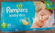 Pampers Baby-Dry Disposable Diapers Size 1, 44 Count, New