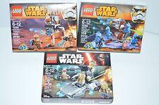Lot of 3 LEGO Star Wars Resistance Trooper Battle Pack Geonosis/Senate Troopers